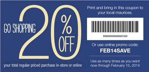 Maurices coupon code