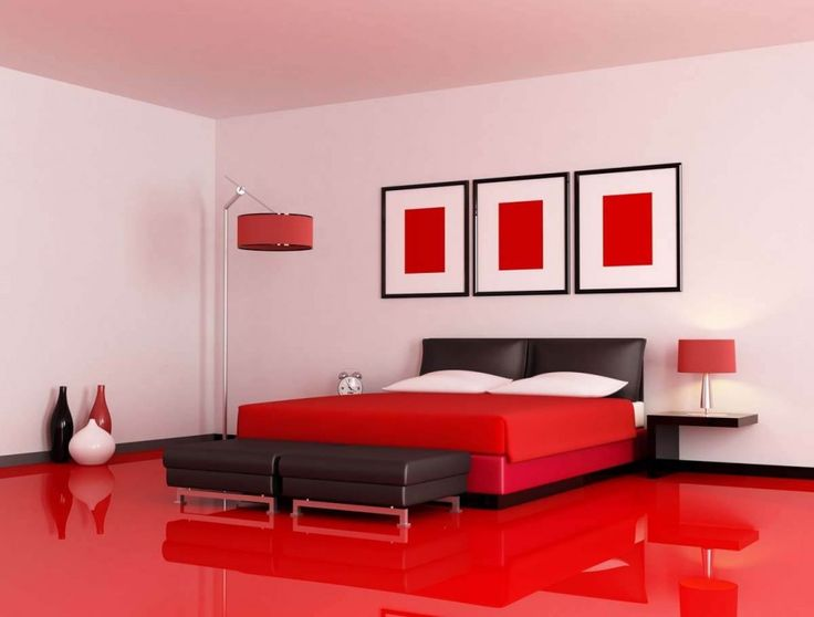 Red Bedroom Theme Decoration Ideas Designs 2016