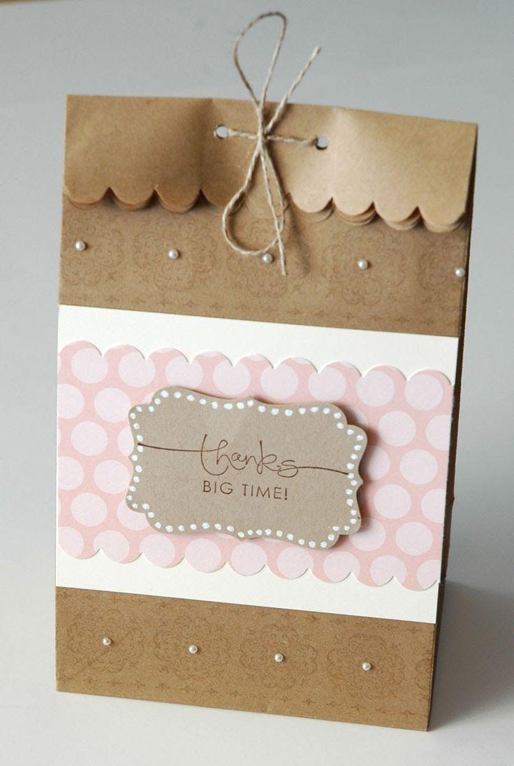 Create Something Everyday: September 11 - Thanks Mini Paper Bag