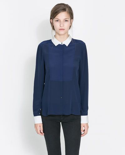 Image 3 of SILK BLOUSE from Zara