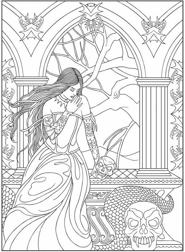 printable vampire coloring pages - photo#35