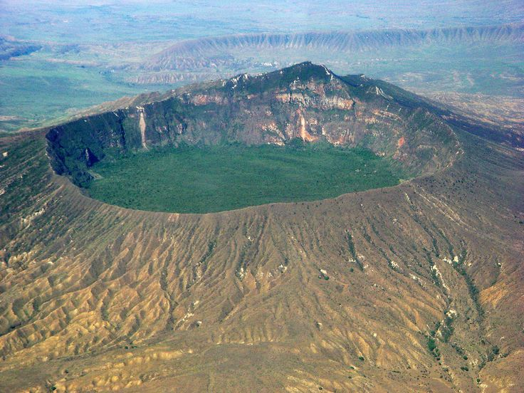Mount Longonot stratovolcano, Great Rift Valley, Kenya, Africa.   It last erupted in the 1860s.