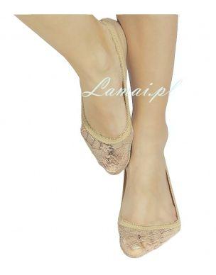 http://www.lamai.pl/19-stopki-damskie Stopki MARILYN Cotton Rose - beżowe bawełniane żakardowe w kwiaty - Sklep Lamai.pl