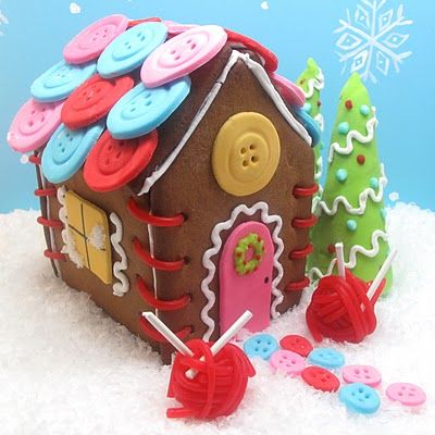gingerbread sewing cottage…  | The Decorated Cookie