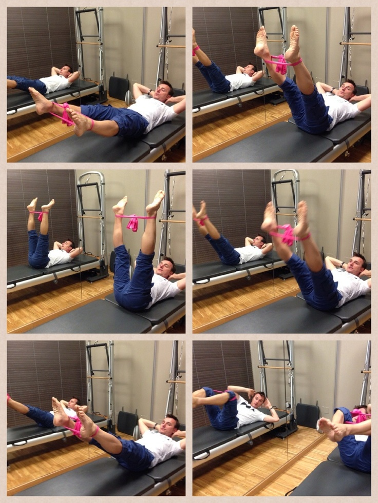 #pilates with elastic band
