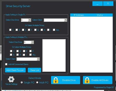 Drive Security App Server and Client Free Download