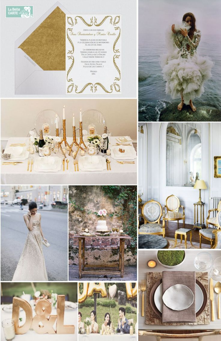 12 best images about bodas en dorado on pinterest for Decoracion bodas