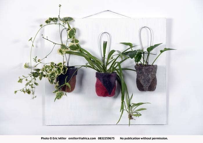 Planters, felt - vertical garden planters - Nuno