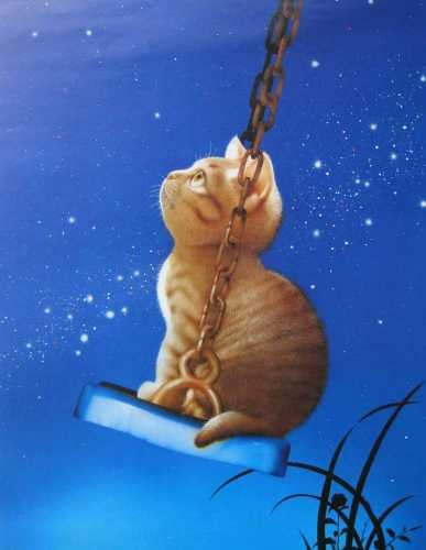 swinging cat - Makoto Muramatsu