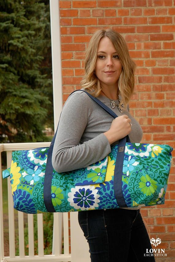 This yoga mat bag will fit mats, blocks, clothing and more. Such a pretty green floral fabric too! #yogamat #yoga #yogamatbag
