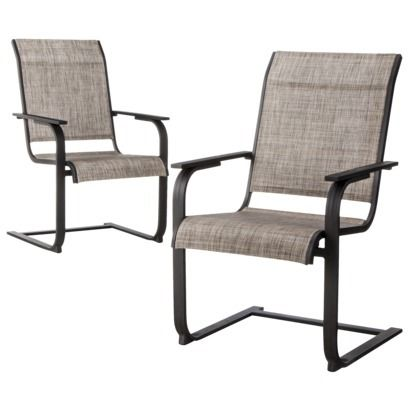 Threshold™ Linden 2 Piece Sling Patio Motion Dining Chair Set