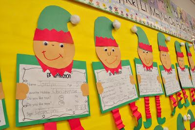 Christmas  Application to be an elf - also cute sorting and other writing activities