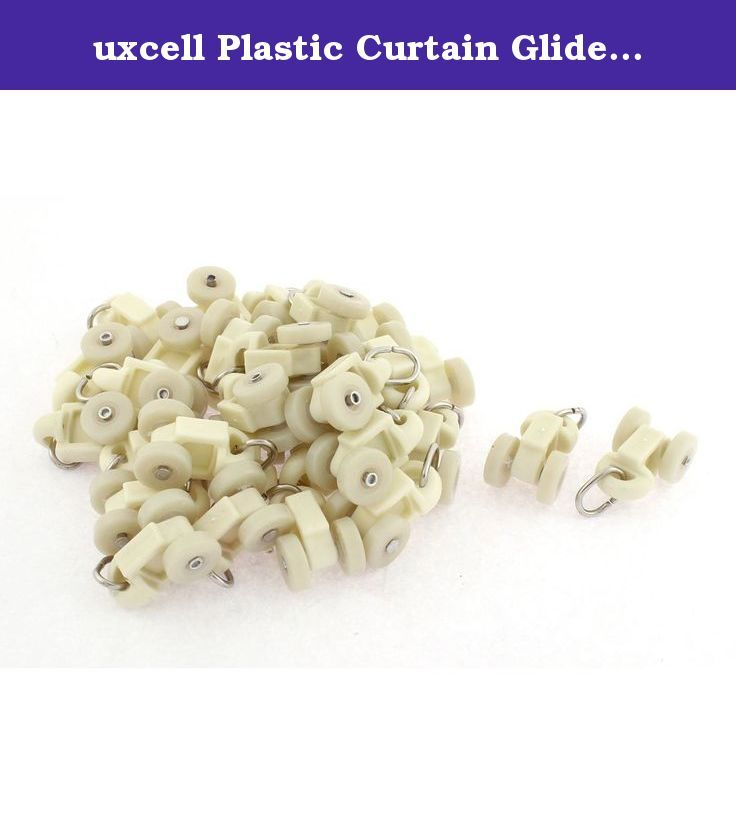 uxcell Plastic Curtain Glider Track Carrier Roller 14mm Dia Wheel 30pcs Beige. 1.These rollers are made of plastic material, you will never worry about blemishing your beautiful curtain. 2.High quality and widely used in home, hospital, office, restaurant, hotel, etc.