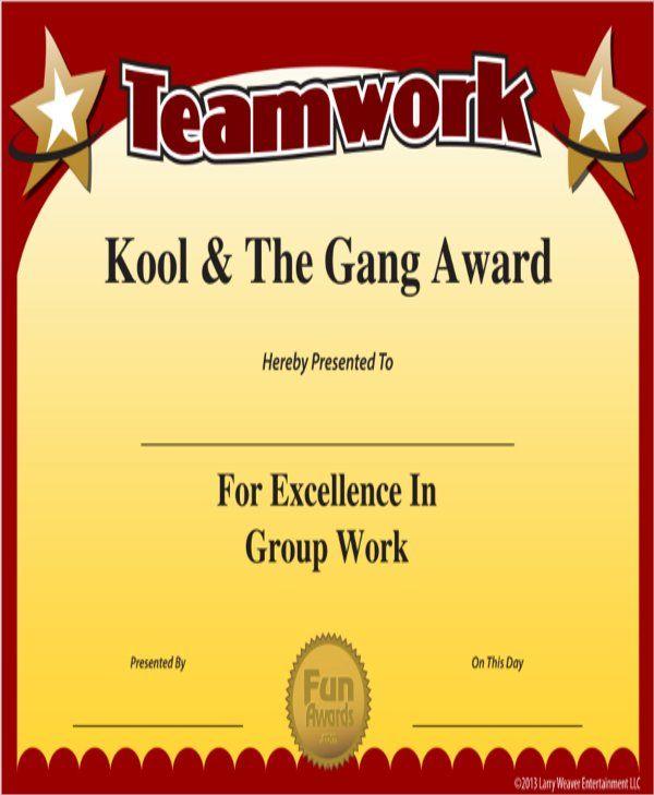 10+ Team Certificate Templates   Free Printable Word & PDF