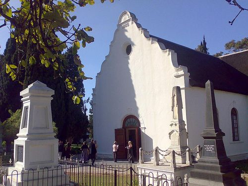 Strooidak Church, Paarl, South Africa ( Dutch Reformed Church) - such an important beacon in the towns history. The cemetery around the church tells its own story - including the fig tree which stems from a tree in the Garden of Gethsemane in Jerusalem.