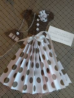 Paper dress card ideas and tutorial | best stuff
