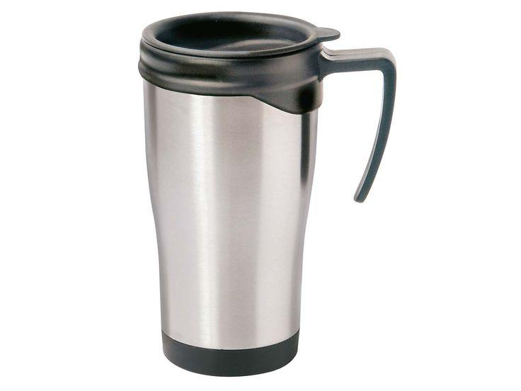 #Thermobecher #Auto_Isolierbecher aus #Edelstahl, für 0,4 l #Schraubverschluss, doppelwandig Mit verschließbarer Trinköffnung | #lockable #thermo #mug #cup #screw #plug