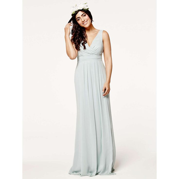 BuyMaids to Measure Lisette Floaty Dress, Misty Green, 8 Online at johnlewis.com