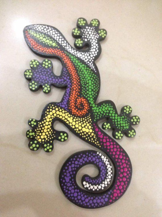 Origin GECKO 28 cm MDF Wall Art Gecko