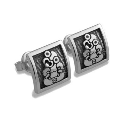 Silver & Some - Evolve - Earrings & Cufflinks, Tiki stud Earrings