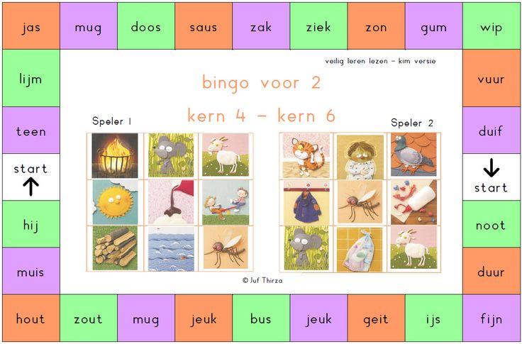 jufthirza.nl Bingo voor 2 veilig leren lezen kim-versie kern 4 tot kern 6