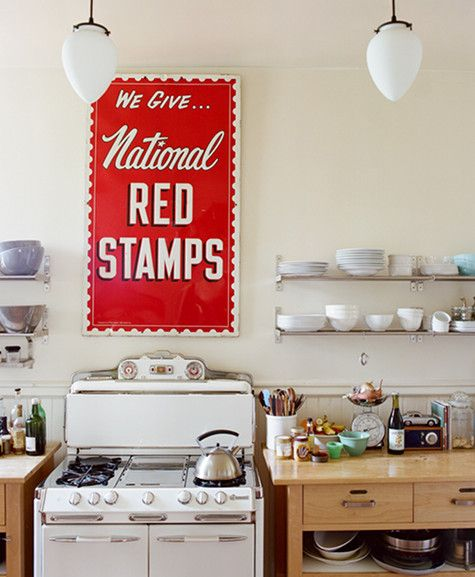 145 best Retro & Vintage Kitchens images on Pinterest | Contemporary ...