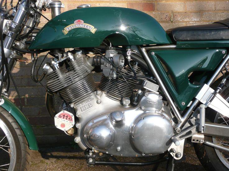 The Vincent v twin engine