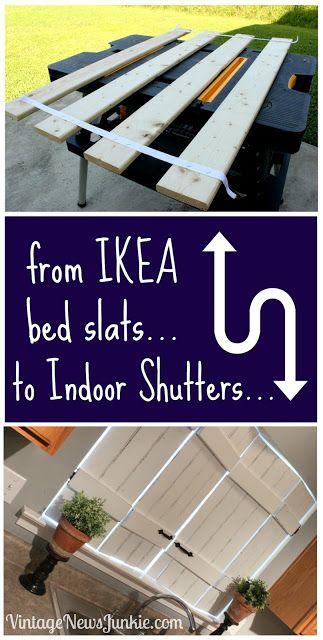 Ikea lattenbodem veranderen naar shutters