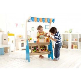 Hape - Fresh Food Market Stand Shop Stall Stand