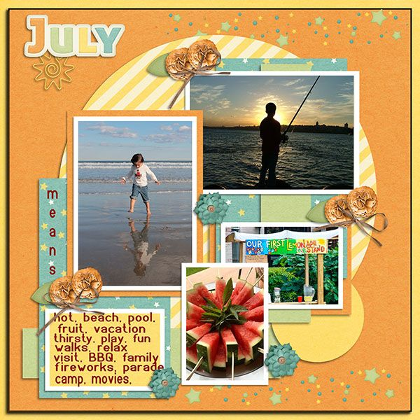July Life by Dandelion Dust Designs  A freebie available at the Dandelion Dust Designs Fan Page Come and visit!  July Life Template by Tinci available on Tinci Designs Fan Page on FB