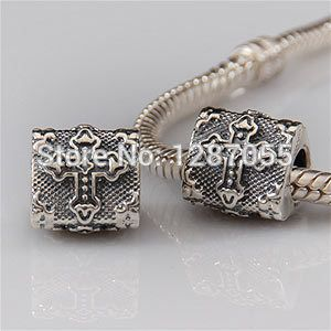 Birthday gifts 925 Sterling Silver Cross big hole beads for women fit bracelets & Necklaces Charms Jewelry