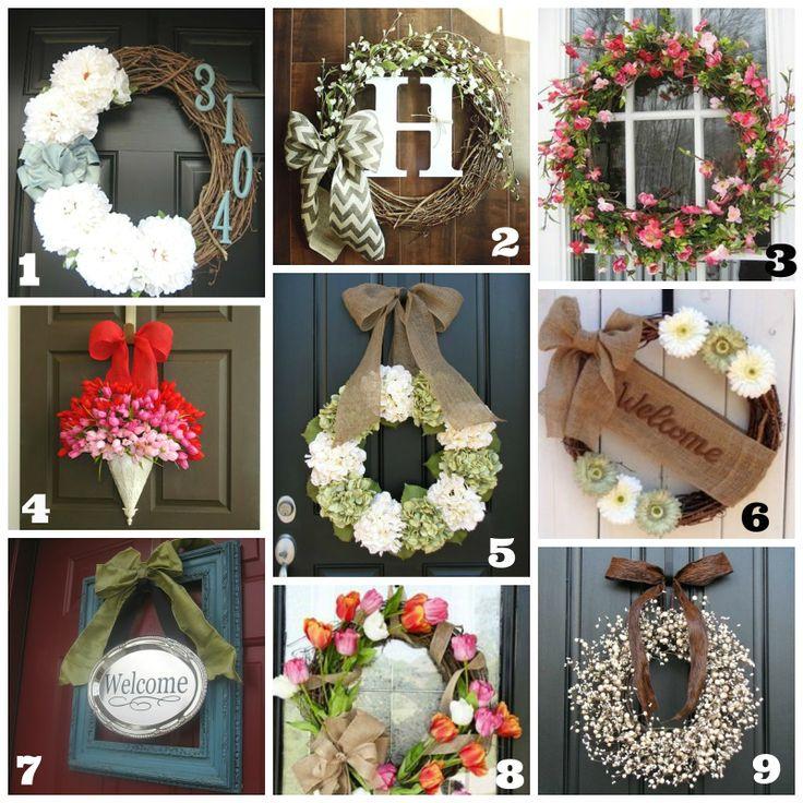 Diy front door wreaths spring summer front door wreaths for Diy summer wreath