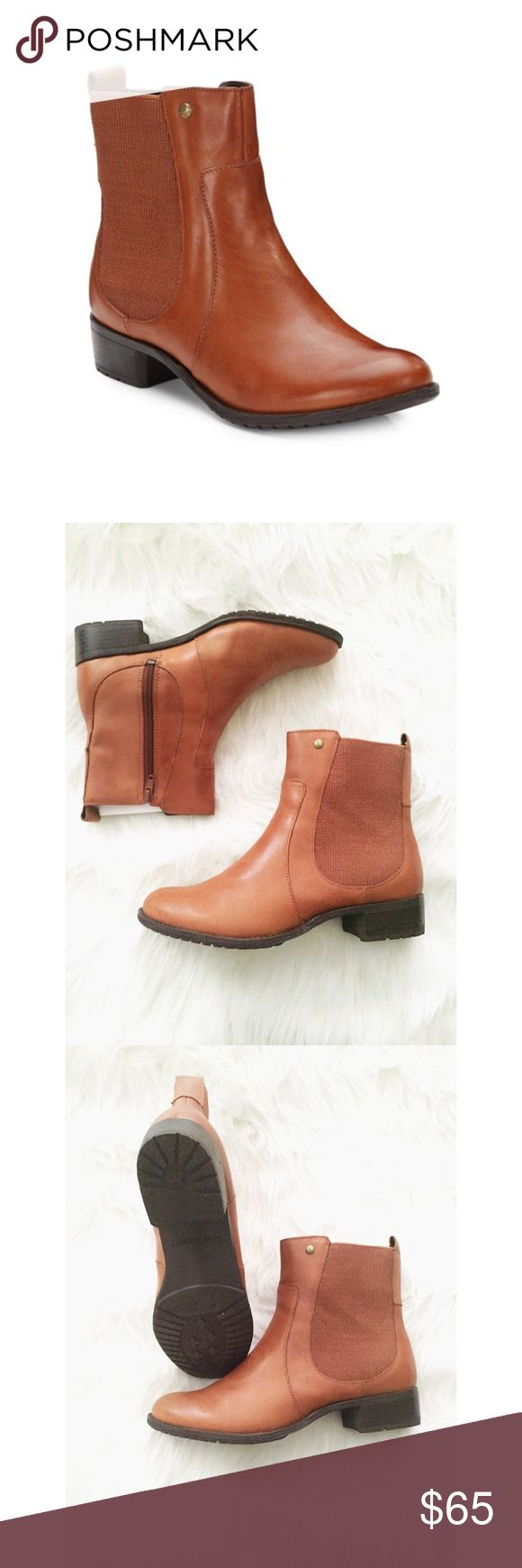 Lana Leather Chelsea Boot Leather Chelsea Boot. Worn once. No scuffs, scrapes, or rips. Worn once. Size 8 wide Hush Puppies Shoes Ankle Boots & Booties