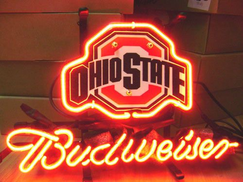 Ncaa Ohio State Buckeyes Bud Light Budweiser Beer Bar Neon Sign