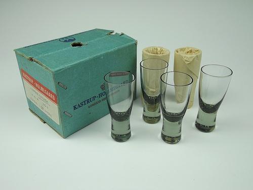 Holmegaard schnapps glasses. Designed by Per Lutken