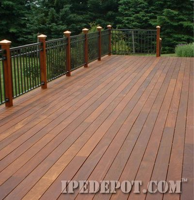 Pregrooved Ipe Deck installed with Ipe Clip fasteners. Ipe Depot is a good ipe source and resource. Could do decks, privacy fence, chaise lounges, and farm table with this wood.