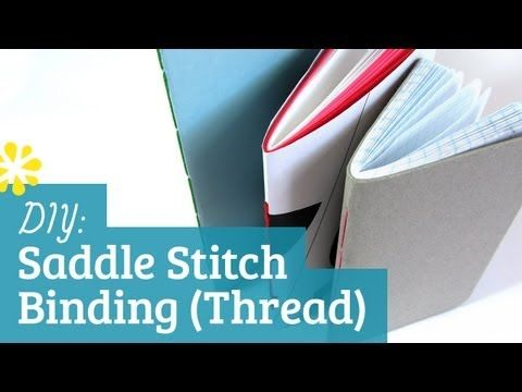▶ How to Saddle Stitch with Thread: Bookbinding Tutorial - YouTube
