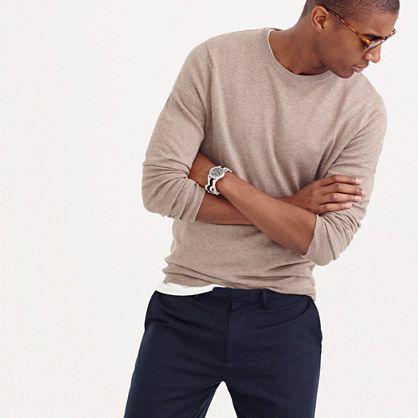 J.Crew - Slim cotton-cashmere crewneck sweater