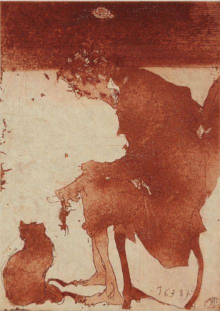 Horst Janssen (1929-1995), 1980, Figurative motifs, Etching.