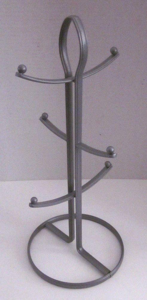 Coffee Mug Rack Tree Holder 6 Cup Storage Stand Kitchen Organizer Tea Key Hanger #Unbranded