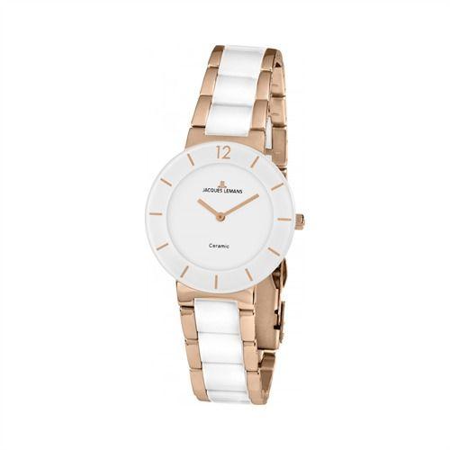 Jaques Lemans Damenuhr weiß rosé https://www.thejewellershop.com/ #watch #uhr #jaques #lemans #damenuhr #weiß #rosé #white #weiß #uhren #damenuhr #woman
