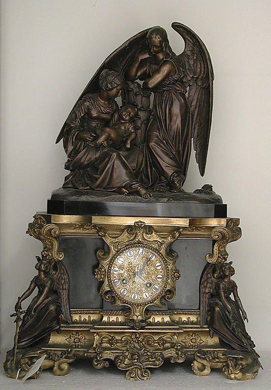 1840-1850 French Mantel clock at the Metropolitan Museum of Art, New York