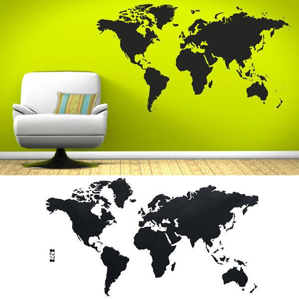 112*60cm World Map Removable Vinyl Wall Sticker Wallpaper Home Office Art Decal #UnbrandedGeneric
