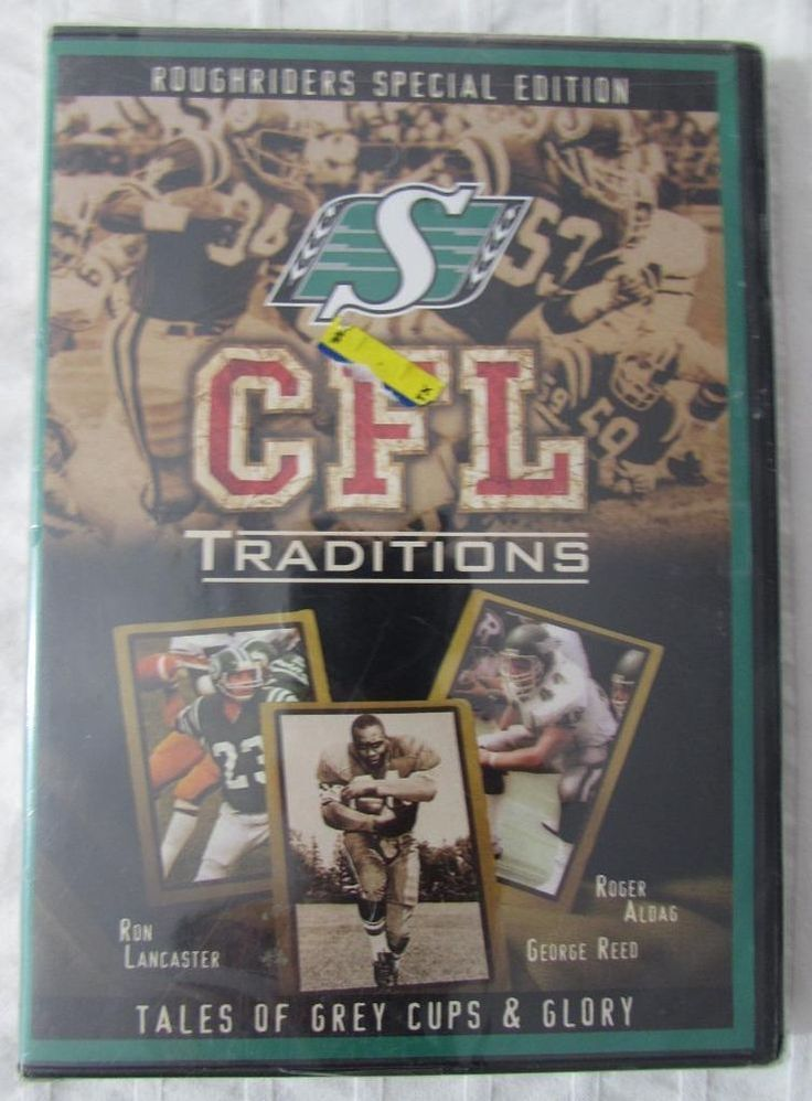 CFL Traditions Saskatchewan Roughriders Special Edition DVD 2003 Sealed