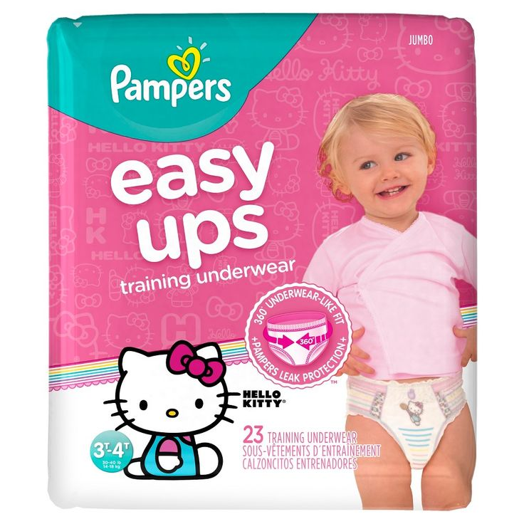 Pampers Easy Ups Girls Training Pants Jumbo Pack, Size 3T-4T (23 ct), Variation Parent