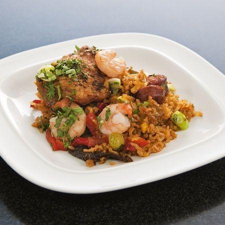 Spicy chicken jambalaya recipe with prawns, chorizo and garlic - Evening Bag Recipes - handbag.com