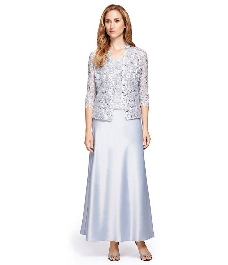 Alex evenings lace a-line jacket dress