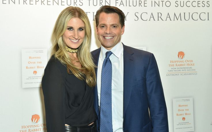 Anthony Scaramucci congratulated his estranged wife on the birth of their child by text message