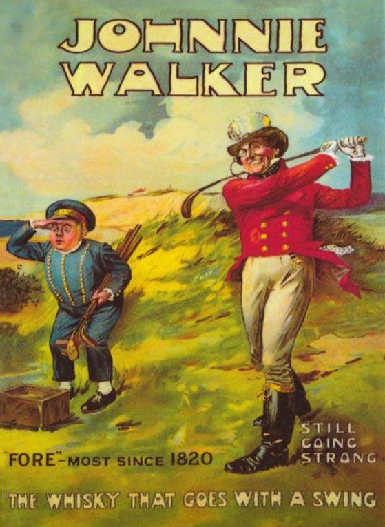 Johnnie Walker whisky vintage advert