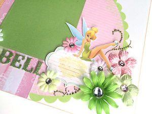 Disney-TINKERBELL-Layout-Premade-Scrapbook-Page-FAIRY-Peter-Pan-Disneyland-DD